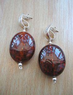 Polish Amber Earrings