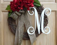 Thanksgiving wreath Burlap Wreath Fall wreath Front by WreathChick