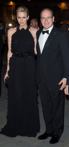 Prince Albert and Princess Charlene of Monaco attend the 2012 Ballo del Giglio at Palazzo Pitti on 10 Oct 2012 in Florence