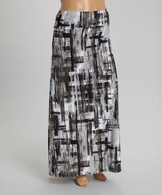 Black & Gray Maxi Skirt #zulily $24.99