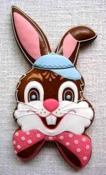 zaječí hlava velká Icing Color Chart, Icing Colors, Fancy Cookies, Sugar Cookies, Baby Girl Cookies, Biscuits, Sweet Bakery, Easter Cookies, Easter Dinner