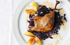 Braised Duck Leg, Red Cabbage & Caramelised Apples, yum yum