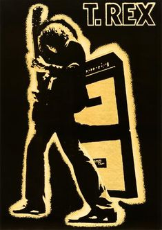 Rock Posters, Band Posters, Music Posters, T Rex Band, Electric Warrior, Iconic Album Covers, Marc Bolan, Glam Rock, New Wall