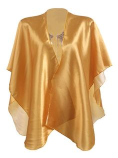 Wings Pattern Back Golden Loose Collarless Open Front Fashion Womens Top on buytrends.com
