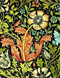 Customisable william morris gifts - t-shirts, posters, mugs, accessories and more from Zazzle. Choose your favourite william morris gift from thousands of available products. William Morris Wallpaper, William Morris Art, Morris Wallpapers, Art Nouveau Pintura, Motifs Art Nouveau, 7 Arts, William Morris Patterns, Vintage Floral Wallpapers, Vintage Floral Fabric