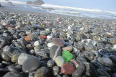 Sea glass is a true trash-to-treasure story, and these hidden gems can be found all along the Oregon Coast, from Astoria down to Brookings. Here are a few of the best places for beachcombers to find sea glass. Oregon Coast Roadtrip, Oregon Vacation, Oregon Road Trip, Oregon Travel, Road Trips, Oregon Camping, Seattle Vacation, Vacation Ideas, Waldport Oregon