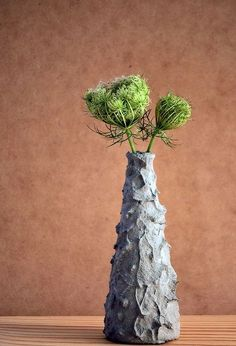 easy diy decor hand formed cement over glass vases, concrete masonry, crafts, home decor, how to, Use a medium thickness mix for this style