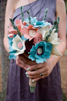 Ideas con fieltro para bodas DIY