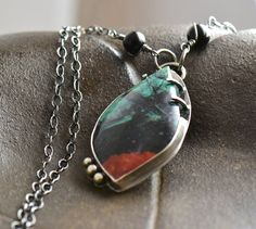 Sonora Sunrise Sterling Silver Pebble Necklace by SimplyAdorning