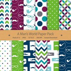 A Man's World is the paper pack you need to scrap about the wonderful men and little men in your life. Boy digital paper by GoneDigital #Gentleman #digitalpaper #Fathersdayprintable