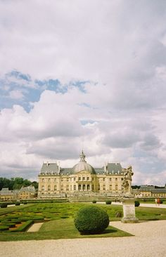 My favorite place in all of France - Vaux le Vicomte.  Zach and I planned our first date here :)