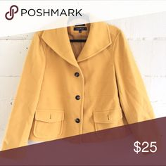 Mustard Peacoat Beautifully made yellow peacoat. Great piece for the fall.                                                                                         Never Worn                                                            •24 inches across                                                                    •22 inches down Evan Picone Jackets & Coats Pea Coats
