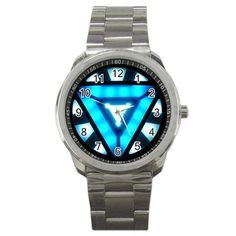 Iron Man Tony Stark Arc Reactor Sport Metal Watch