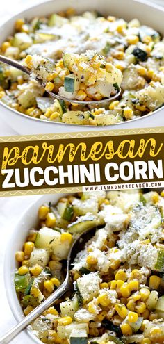 Parmesan Zucchini Corn is a vegetable side dish that is full of fresh ingredients. This healthy food idea will satisfy your health-conscious guests as well as some picky eaters. This lovely and tasty side dish can be prepared in 15 minutes tops! Pin this simple dinner recipe!