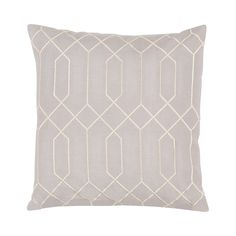 """We hesitate to use the word """"basic"""" to describe this Fresco Throw Pillow. While it may have a versatile design and color palette that work with practically everything, it's also an elegant and sophisti...  Find the Fresco Throw Pillow, as seen in the Organic Modern Design Collection at http://dotandbo.com/collections/organic-modern-design?utm_source=pinterest&utm_medium=organic&db_sku=110550"""