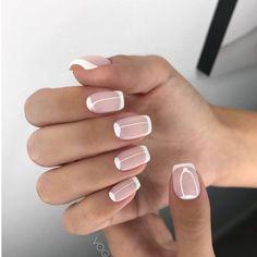 french nails ballerina Tips French Nail Art, French Nail Designs, French Tip Nails, Nail Art Designs, Short French Nails, French Pedicure, Manicure And Pedicure, Ten Nails, Nagel Hacks