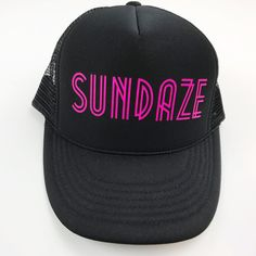 Trucker Hat Neon Pink Sundaze Women s by Love By Moon Co 9db45e23b9a5