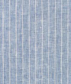 Shop  Denim Blue Pinstripe Chambray Linen Fabric at onlinefabricstore.net for $25.7/ Yard. Best Price & Service.