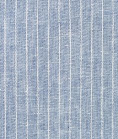 Shop  Denim Blue Pinstripe Chambray Linen Fabric at onlinefabricstore.net for $25.7/ Yard. Best Price & Service.