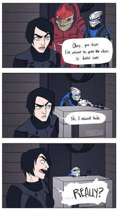 Fave. Serious props to who ever made this. I took Wrex and Garrus on literally every mission in the first game.