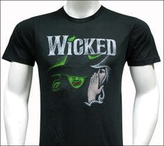Wicked the Broadway Musical - Black Sketch Logo T-Shirt $34.95.  ---   I own this and it is seriously my favorite shirt I have!!!