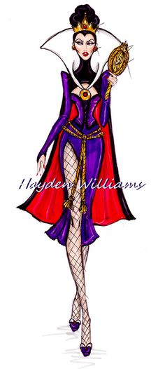 Williams Fashion Illustrations: The Disney Diva Villainess collection by Hayden Williams: The Evil Queen–YAAAAAS! Walt Disney, Disney Style, Disney Love, Disney Magic, Hayden Williams, Arte Fashion, Fashion Design, Queen Fashion, Disney Evil Queen