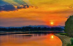 Orange sky wallpaper