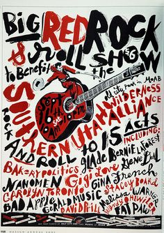 Minus the guiter and hickishness, this is actually a pretty punk design and has a lot of attitude that could work well me thinks. Like if we paired this grittiness with the script elegant font in your logo it would be a great juxtaposition Typography Letters, Graphic Design Typography, Handwritten Typography, Graphic Art, Rock Posters, Concert Posters, Typographic Poster, Design Graphique, Grafik Design