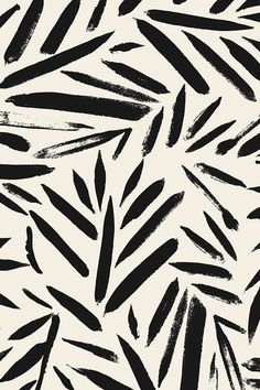 Colorful fabrics digitally printed by Spoonflower Brush Stroke Leaves Black cream Colorful fabrics digitally printed by Spoonflower Brush Stroke Leaves Black cream nczargar nczargaryahoocom uni Not So Black and nbsp hellip and white Painting Black And White Leaves, Black And White Aesthetic, White Leaf, Pink Aesthetic, Black And White Fabric, Black And White Design, Black And White Words, Black White Pattern, Black And White Wallpaper