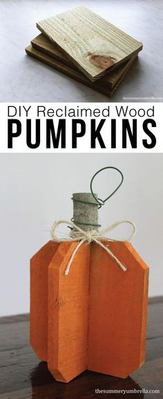 How to Make Rustic DIY Reclaimed Wood Pumpkins DIY reclaimed wood pumpkins are n. Holz Handwerk , How to Make Rustic DIY Reclaimed Wood Pumpkins DIY reclaimed wood pumpkins are n. How to Make Rustic DIY Reclaimed Wood Pumpkins DIY reclaimed wood . Diy Craft Projects, Diy Home Crafts, Easy Diy Crafts, Decor Crafts, Craft Ideas, Fall Projects, Craft Decorations, Diy Ideas, Design Crafts