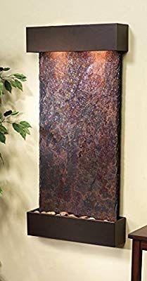 Amazon Com Adagio Whispering Creek Fountain W Rajah Natural Slate In Antique Bronze Finish Adagio Water Wall Fountain Indoor Wall Fountains Indoor Fountains