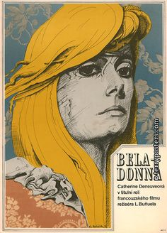 La locura artística de los carteles de cine checoslovacos Belle de jour (1967)