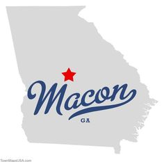 macon+ga | Map of Macon Georgia GA.  Come visit our beautiful city!  You won't be disappointed!