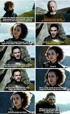 Talking about Dany, Game of Thrones. Talking about Dany, Game of Thrones. Game Of Thrones Quotes, Game Of Thrones Fans, Daenerys And Jon, Game Of Thrones Instagram, Lyanna Mormont, Got Memes, Funny Memes, Georgie Henley, Best Duos