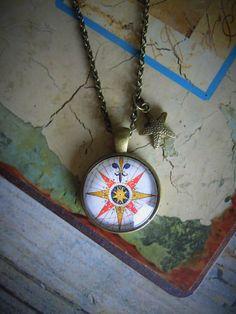 """Medaillonketten - Maritim look Kette """"Kompass"""" - ein Designerstück von Love-design bei DaWanda"""