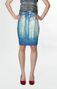 Twilight Forest Fitted Skirt by Moonriver Clothing $36.00 AUD