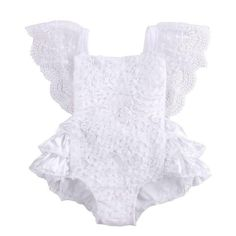 fcfe04a8c85e The Wrapped in White baby girl romper is designed for special occasions and  gorgeous photo shoots