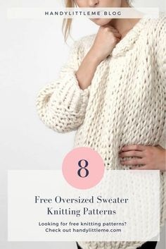 Make your own huge sloppy sweater this… Free oversized sweater knitting patterns. Make your own huge sloppy sweater this year with one of these free patterns. Beginner Knitting Patterns, Jumper Knitting Pattern, Loom Knitting, Knitting Designs, Knitting Sweaters, Start Knitting, Easy Sweater Knitting Patterns, Free Knitting Patterns For Women, Knit Patterns