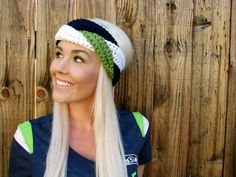 Seattle Seahawks Navy Blue Green White Hawks Braid by HillNTrees