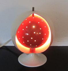 Space age Anvia 'Eclipse' table lamp by MidModLamps on Etsy https://www.etsy.com/listing/232121200/space-age-anvia-eclipse-table-lamp