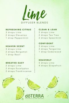 Lime diffuser blends. Clean & Lean and Heavenly are devine