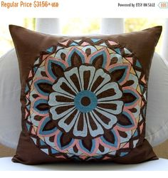 15% HOLIDAY SALE Handmade  Brown Cushion Covers by TheHomeCentric