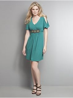 Cute teal dress...comes in coral and black too. :)