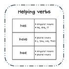 Helping verbs poster freebie!