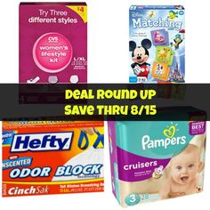 Deal Round Up! Save Thru 8/15! Mama Bees Freebies