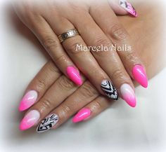 by Marcelina Rawka, Double Tap if you like #mani #nailart #nails #ombre Find more Inspiration at www.indigo-nails.com