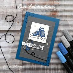 Little Paper Party, Epic Celebrations, Stampin' Blends Markers, FMS322, #1.jpg