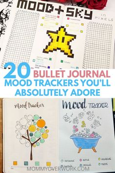 Bujo inspiration to track your emotions daily. DIY these year and monthly BULLET JOURNAL MOOD TRACKER examples. Catch patterns of depression or keep the running steak of happy with creative, simple, minimalist spreads. Year in pixels and alternatives, flower, circle, mandala, cactus, giraffe, turtle, mosaic, tree, bubble, flag, coffee cup, tetris, donut, gumball machine, balloon, faces, and more! Great ideas to add to your collection! See my printables post for a free mood tracker template