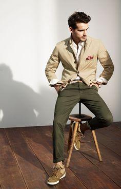 Olives, tans, khakis. Mens clothes from http://dailyshoppingcart.com/mensfashion