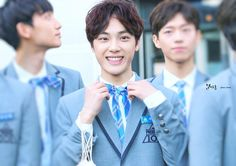 주학년 (Joo Haknyeon) Joo Haknyeon, Chang Min, Kim Sun, Lee Sung, Produce 101, Bae, Singing, Entertaining, Kpop